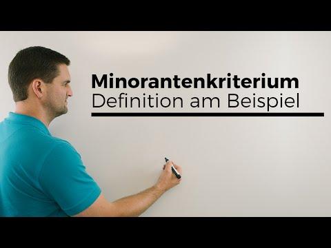 Minorantenkriterium, Definition am Beispiel, Konvergenz/Divergenz von Reihen