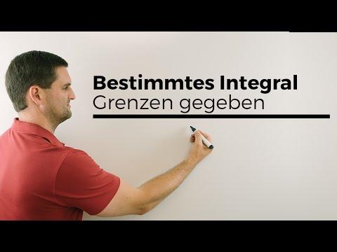 Bestimmtes Integral, Grenzen gegeben, Mathehilfe online, Erklärvideo | Mathe by Daniel Jung