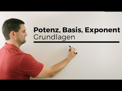 Potenz, Potenzen, Basis, Exponent, Grundlagen, Nachhilfe online | Mathe by Daniel Jung
