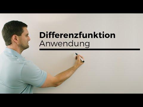 Differenzfunktion, Anwendungsmöglichkeiten | Mathe by Daniel Jung