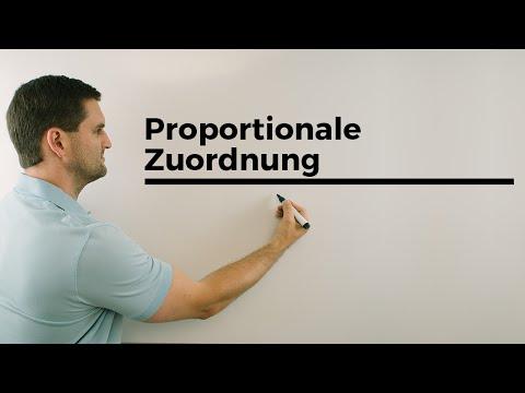 Proportionale Zuordnung, Wertetabelle und Zuordungsgraph | Mathe by Daniel Jung