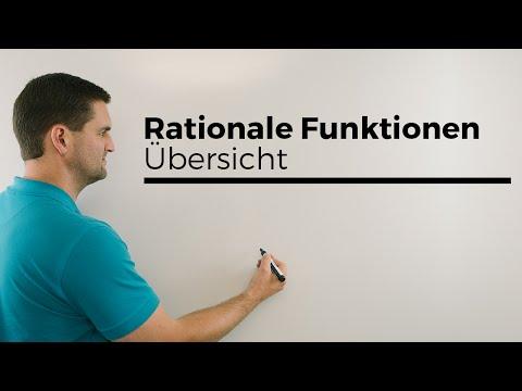 Rationale Funktionen, Übersicht, echt, unecht, Mathematik | Mathe by Daniel Jung