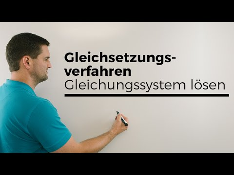 Gleichsetzungsverfahren, Gleichungssystem lösen, LGS, Hilfe in Mathe, einfach erklärt, Nachhilfe