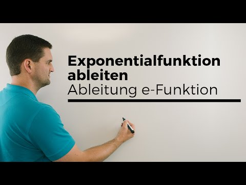 Exponentialfunktion ableiten, Ableitung e-Funktion, einfache Übersicht | Mathe by Daniel Jung