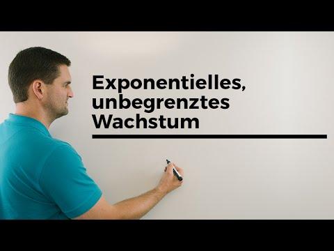Exponentielles, unbegrenztes Wachstum, Zerfall | Mathe by Daniel Jung