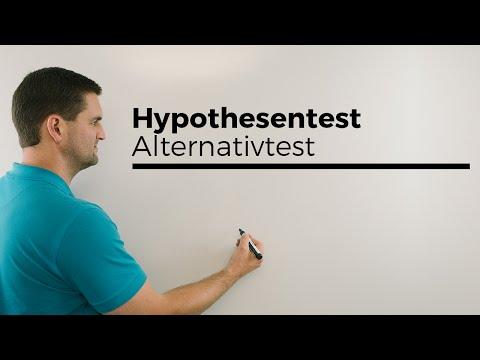 Übersicht, Testen, Alternativtest, Hypothesentest, einseitig, beidseitig, Mathe by Daniel Jung