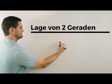 Lage von 2 Geraden, Vektorgeometrie, Parameterformen vergleichen, Ablauf | Mathe by Daniel Jung