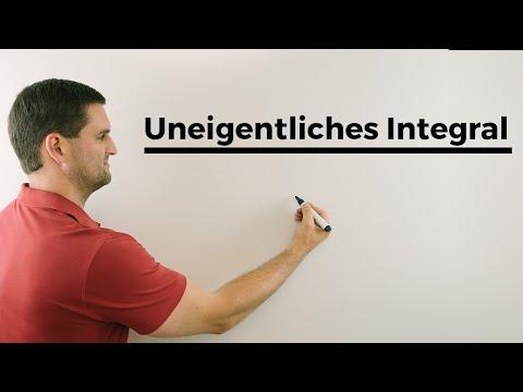 Uneigentliches Integral, unbekannte Grenze, unendlich | Mathe by Daniel Jung