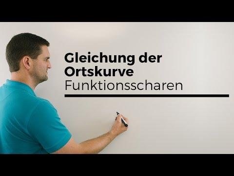 Gleichung der Ortskurve, Funktionsscharen, Hilfe in Mathe, einfach erklärt | Mathe by Daniel Jung