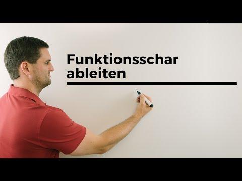Funktionsschar ableiten, Ableitung mit Parameter/Buchstaben, Basics, Mathe by Daniel Jung