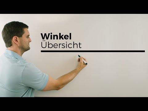Winkel, Übersicht, Vektorgeometrie, Formeln, Mathehilfe online, Erklärvideo | Mathe by Daniel Jung