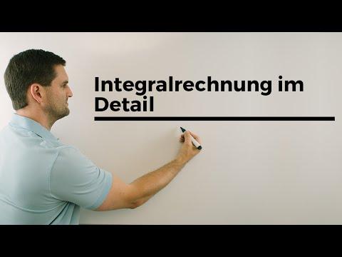 Integralrechnung im Detail, Flächenberechnung, Übersicht, Integrale | Mathe by Daniel Jung