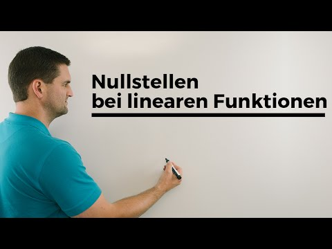 Nullstellen bei linearen Funktionen, Beispiele, Geraden | Mathe by Daniel Jung