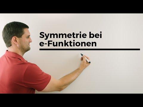 Symmetrie bei e-Funktionen, Exponentialfunktion, Mathehilfe online | Mathe by Daniel Jung