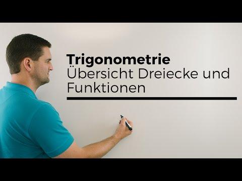 Trigonometrie, Übersicht Dreiecke und Funktionen | Mathe by Daniel Jung