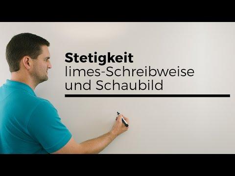 Stetigkeit, technisch mit limes-Schreibweise und Schaubild, Mathe by Daniel Jung