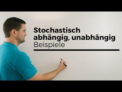 Stochastisch abhängig, unabhängig, Beispiele, Wahrscheinlichkeitsrechnung, Mathe by Daniel Jung