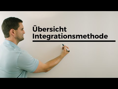 Übersicht Integrationsmethoden, Integrationsregeln | Mathe by Daniel Jung