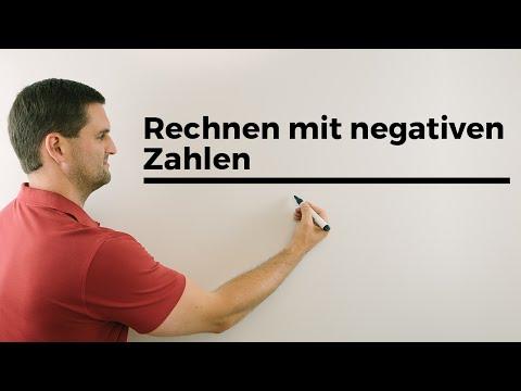 Rechnen mit negativen Zahlen Teil 1, Hilfe in Mathe, einfach erklärt | Mathe by Daniel Jung