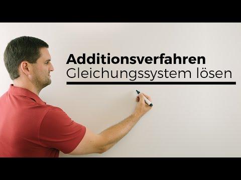 Additionsverfahren, Gleichungssystem lösen, LGS, Hilfe in Mathe | Mathe by Daniel Jung