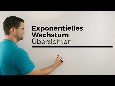 Exponentielles Wachstum, Übersichten, auch Zerfall | Mathe by Daniel Jung, Erklärvideo