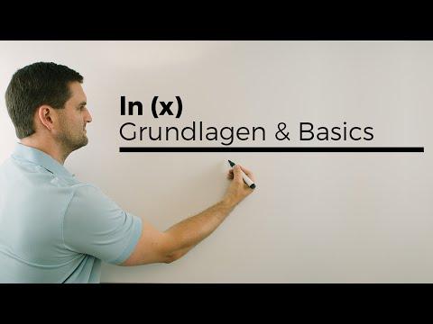 ln(x), Grundlagen, Basics, natürliche Logarithmusfunktion | Mathe by Daniel Jung