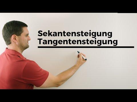 Sekantensteigung, Tangentensteigung, Ableitung, Ableiten, Übersicht | Mathe by Daniel Jung