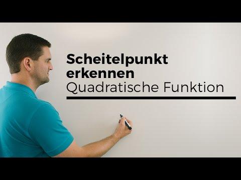 Scheitelpunkt erkennen in langsam, Quadratische Funktionen, Parabeln | Mathe by Daniel Jung