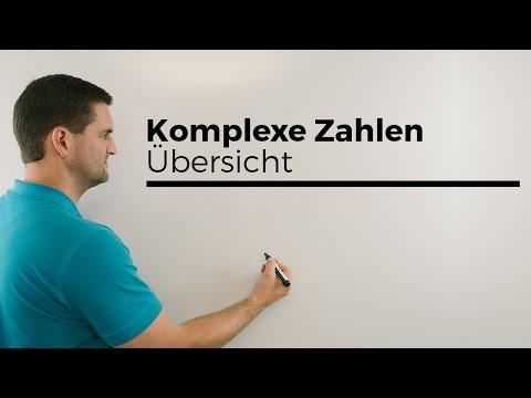 Komplexe Zahlen, Übersicht, Imaginäre Einheit, Realteil, Imaginärteil | Mathe by Daniel Jung