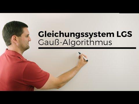 Gleichungssystem (LGS) lösen 1, Gauß-Algorithmus, Schreibweisen, Rechnung