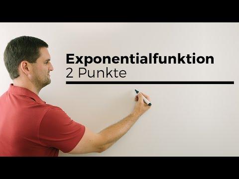 Aufstellen Exponentialfunktion mittels 2 Punkten, e-Funktion | Mathe by Daniel Jung