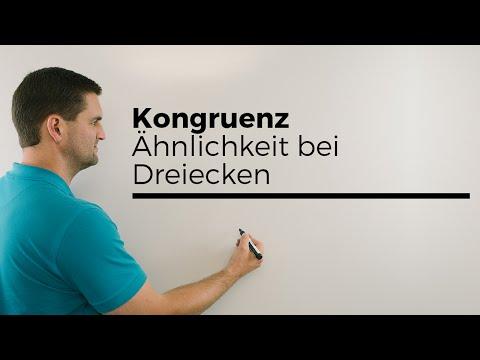 Kongruenz, Ähnlichkeit bei Dreiecken, Geometrie | Mathe by Daniel Jung