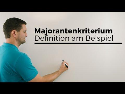 Majorantenkriterium, Definition am Beispiel, Konvergenz von Reihen | Mathe by Daniel Jung
