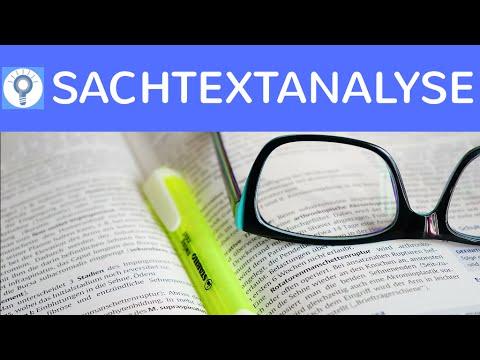 Wie schreibe ich eine Sachtextanalyse? Wie analysiere ich einen Sachtext? - Textanalyse
