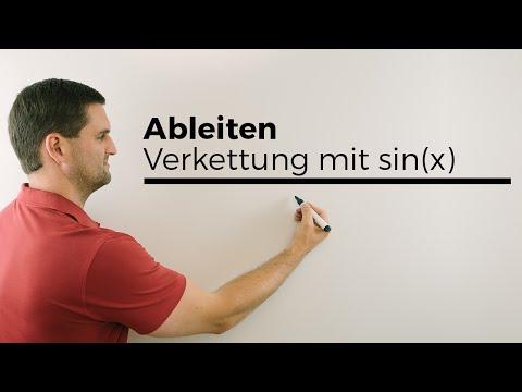 Ableiten, Verkettung mit sin(x), Differenzieren, Kettenregel, Ableitung | Mathe by Daniel Jung