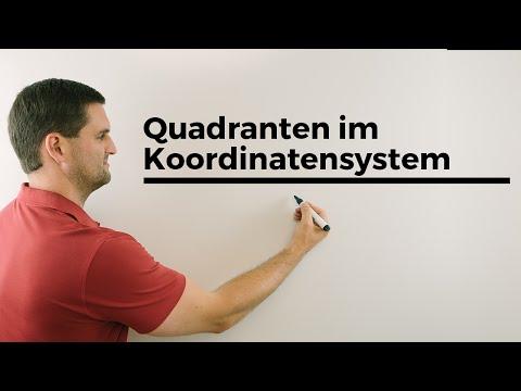 Quadranten im Koordinatensystem, Beschriftung, I, II, III, IV | Mathe by Daniel Jung