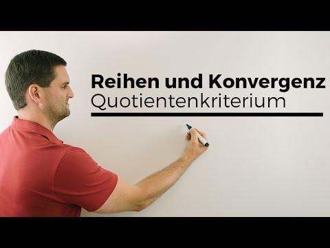 Reihen auf Konvergenz untersuchen, Quotientenkriterium Teil 1 | Mathe by Daniel Jung