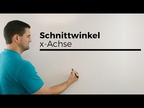 Schnittwinkel von Funktionen mit der x-Achse, Formel tan(alpha)=m | Mathe by Daniel Jung