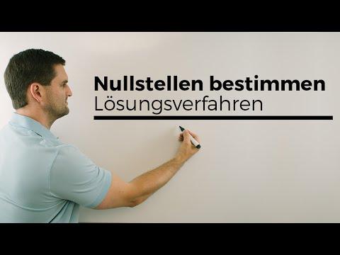 Nullstellen bestimmen, Lösungsverfahren, Ausklammermethode | Mathe by Daniel Jung