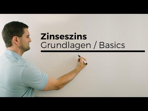 Zinseszins, Grundlagen Basics, Wachstumsfaktor, Mathehilfe online | Mathe by Daniel Jung