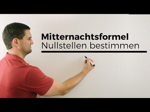 Mitternachtsformel (a-b-c-Formel), Nullstellen bestimmen | Mathe by Daniel Jung