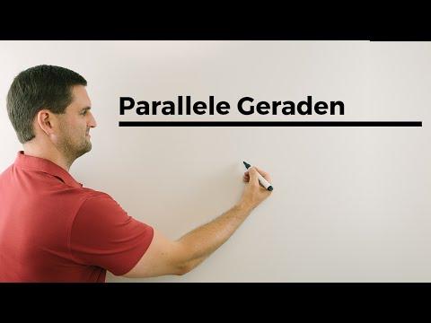 Echt parallele Geraden, Vektorrechnung, Lagevergleich, Analytische Geometrie | Mathe by Daniel Jung
