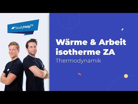 Wärme und Arbeit bei isothermen Zustandsänderungen - geschlossenes System