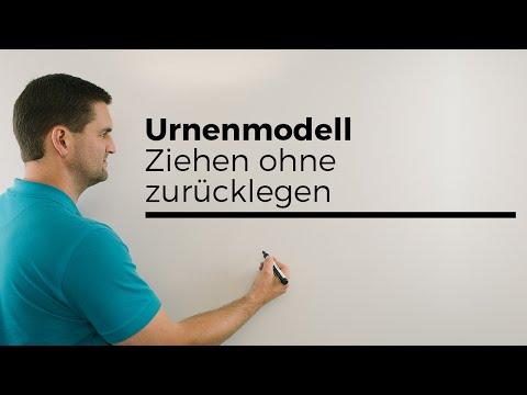 Urnenmodell Ziehen ohne Zurücklegen, Beispiel, Kugeln, Stochastik | Mathe by Daniel Jung