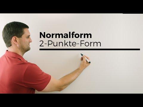 Normalform, 2-Punkte-Form, Punkt-Steigungs-Form, Übersicht | Mathe by Daniel Jung