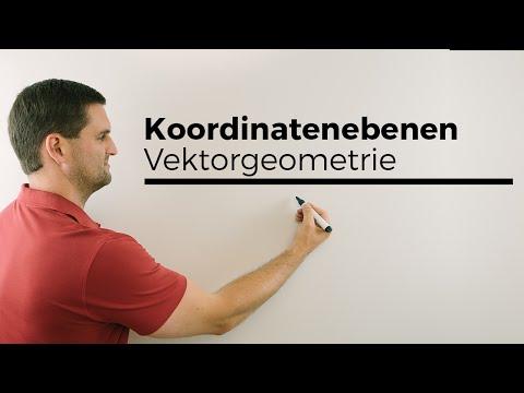 Koordinatenebenen, Vektorgeometrie, analytische Geometrie | Mathe by Daniel Jung