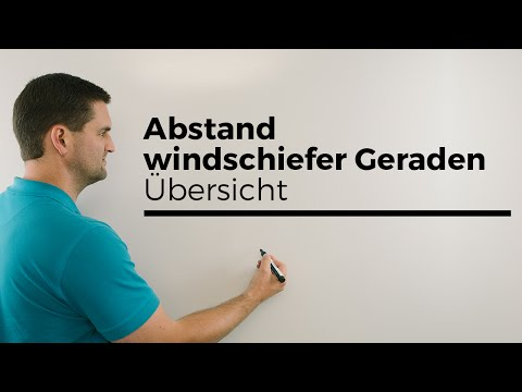 Abstand windschiefer Geraden, Übersicht, Vektorgeometrie | Mathe by Daniel Jung