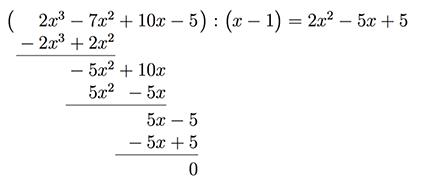 Beispiel Polynomdivision
