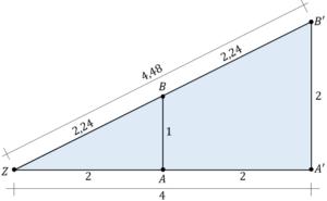 Dreieck zentrische Streckung