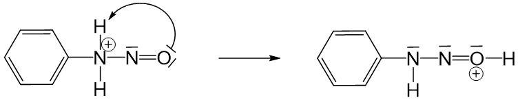 Anilinmoleküls an positiver Ladung des Nitrosylkations 2